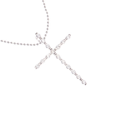 Kette Kreuz Sao Paulo 925 Silber Zirkonia