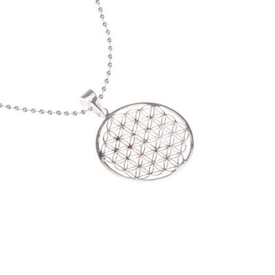 Kette Blume des Lebens 925 Silber