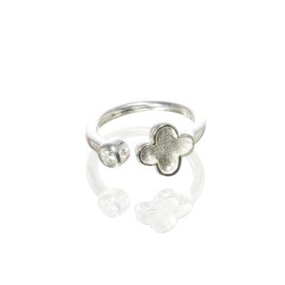 Ring Cataleya Kleeblatt 925 Silber
