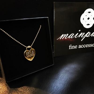 Kette Herz Anna Maria Personalisiert 925 Silber Gold/ Gravur
