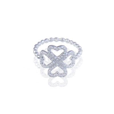Ring Kleeblatt Ana 925 Silber