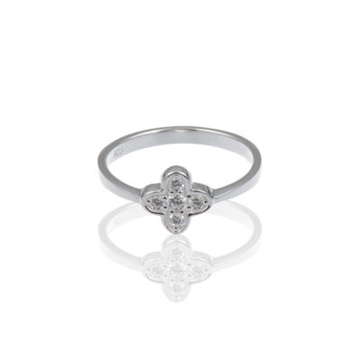 Ring Kleeblatt Collection Carina Nova 925 Silber Zirkonia