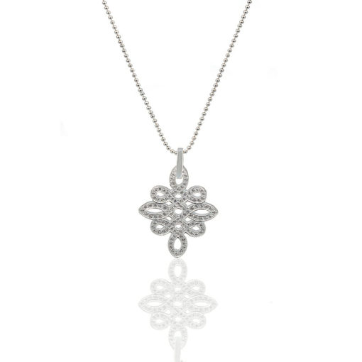 Kette Knoten Collection by Mama Co 925 Silber Zirkonia