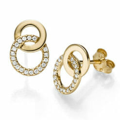 earrings Loana 925´goldplated, zirkonia