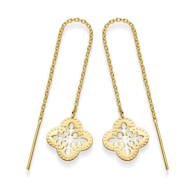 Ohrringe Kleeblatt Granada 925' goldplattiert