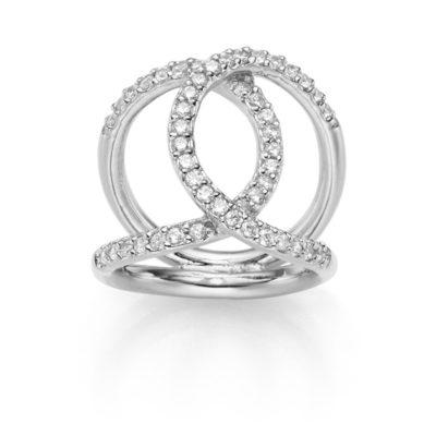 Ring Icon 925' silber mit Zirkonia