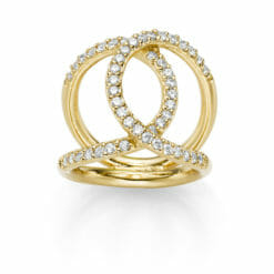 RING ICON 925′ GOLDPLATTIERT ZIRKONIA