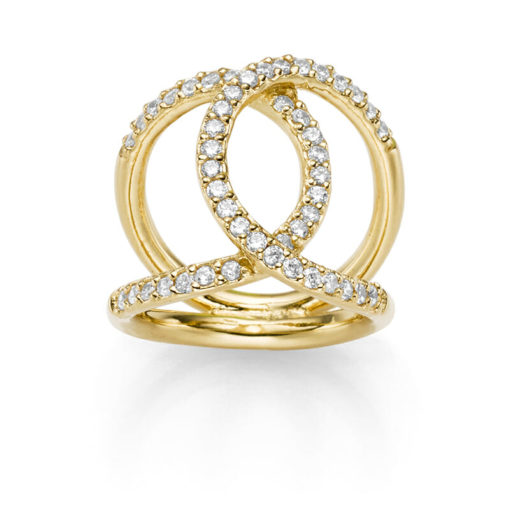 RING ICON 925′ GOLDPLATTIERT ZIRKONIA