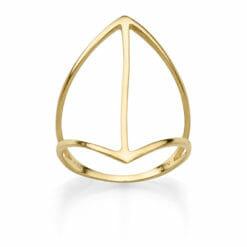 RING BOHEMIAN SANTOS 925′ GOLDPLATTIERT