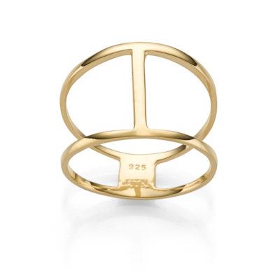 RING BOHEMIAN TRINIDAD 925′ GOLDPLATTIERT