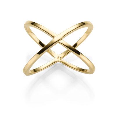 X RING XENA CLASSIC 925′ GOLDPLATTIERT