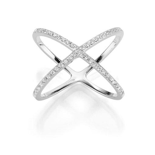 X Ring Xena 925' silber Zirkonia