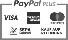 Paypal Plus - Zahlung mit Kreditkarte, Lastschrift oder Kauf auf Rechnung