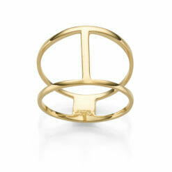 Ring Bohemian Trinidad 925' goldplattiert