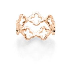 Ring Kleeblatt Sarah 925′ roségoldplattiert