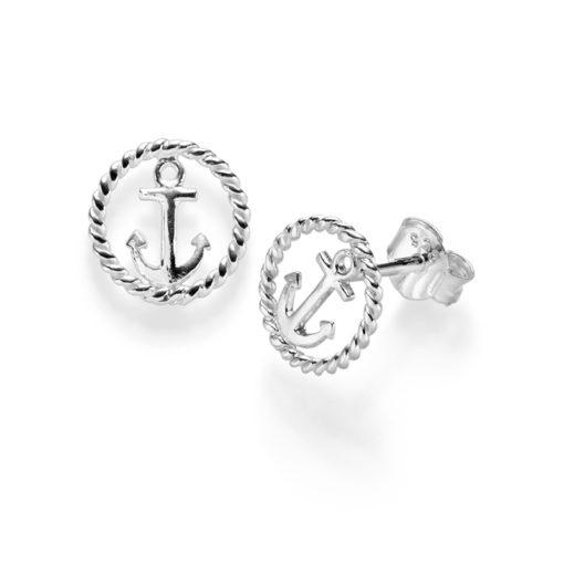 Ohrringe Anker Santorini 925′ SilberOhrringe Anker Santorini 925′ Silber